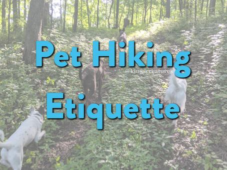 Pet Hiking Etiquette