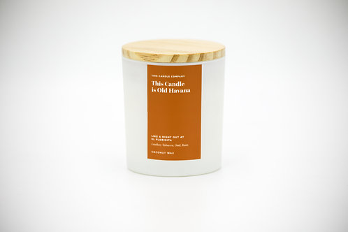 This Candle is Old Havana - Leather, Tobacco, Oud, Rum