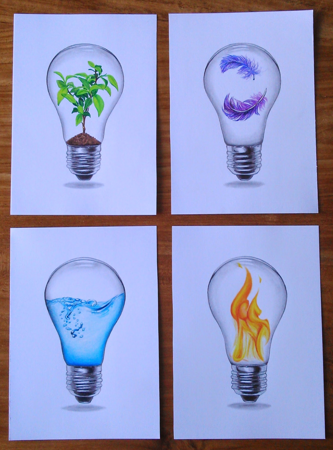 4 elements lights