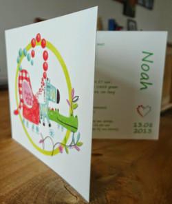 Birth announcement cards design