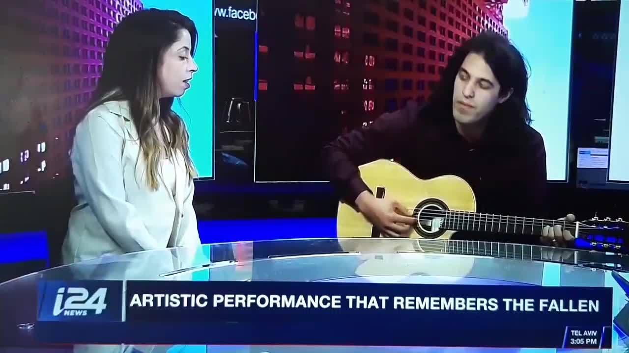 ינון בר שירה ומור גנות שרים ב24 NEWS