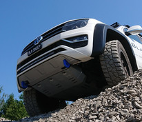 Unterfahrschutz-Verlängerung Amarok V6, Optional mit Bergeösen