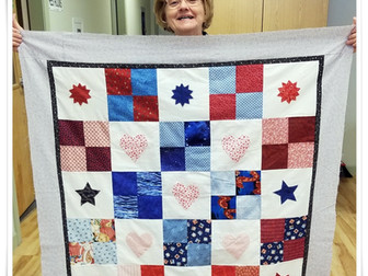 A Quilt Top with a Baby in Mind