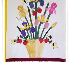 'Irises' door hanger.