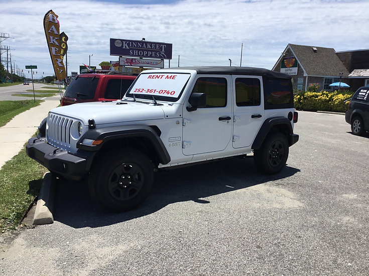 Jeep Rental please call, text or email to check availability.