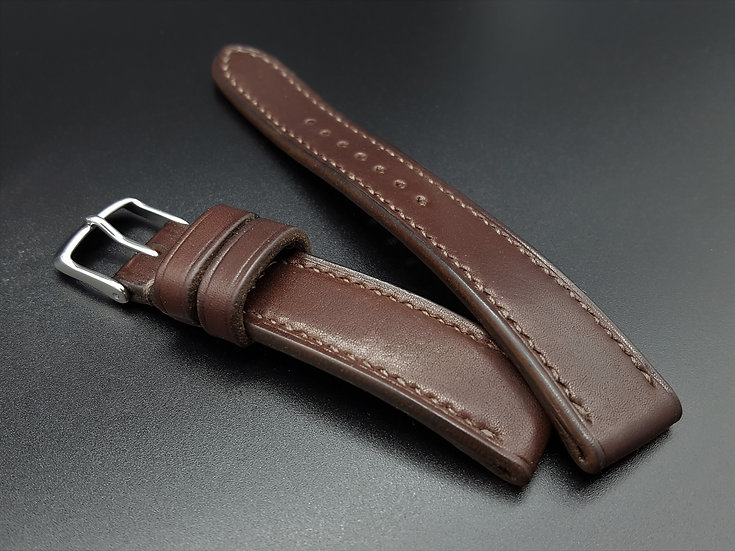 Haas Barenia(Chocolate) Leather Watch Strap
