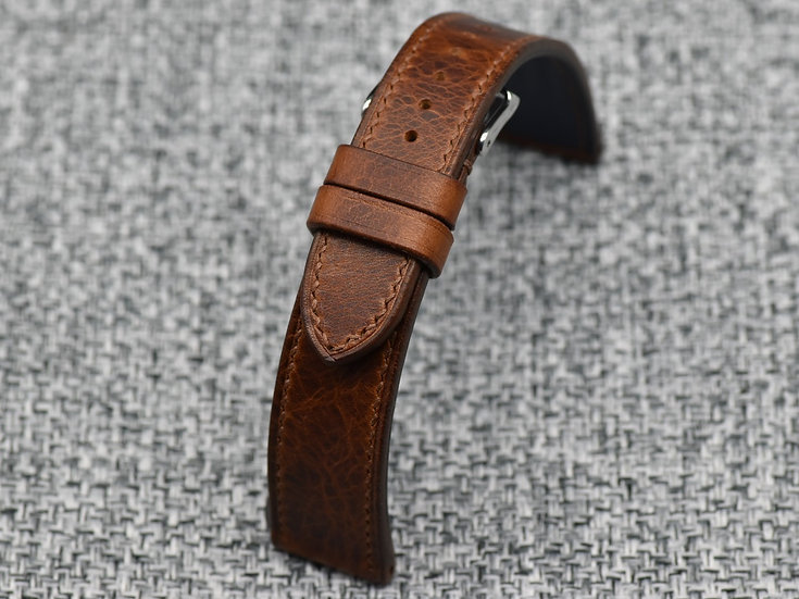 BC Minerva Wax(Cognac) Leather Watch Strap