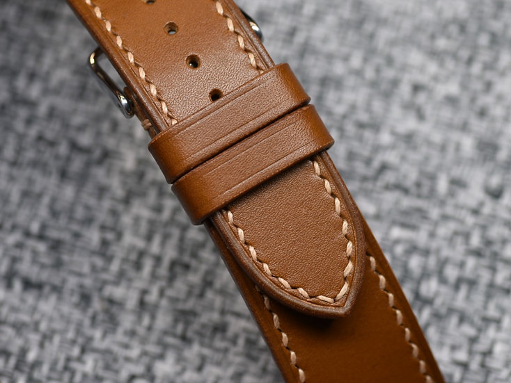 Artigiano del Cuoio Vachetta Liscia(Whiskey) Leather Watch Strap