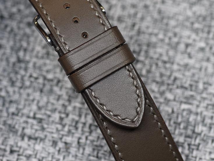 Artigiano del Cuoio Vachetta Liscia(Grey) Leather Watch Strap