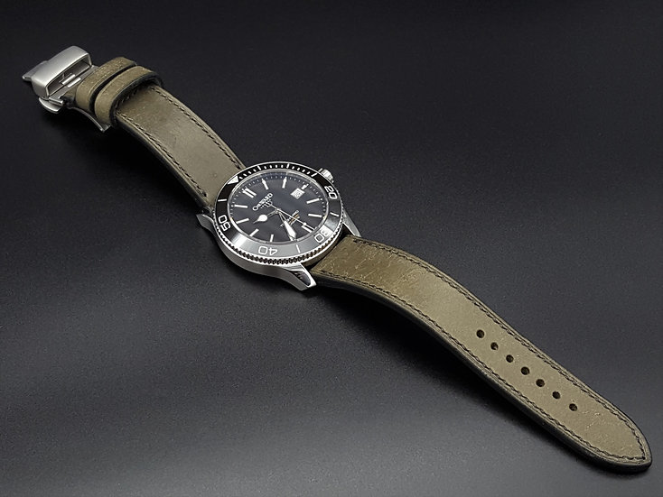 BC Pueblo(Grey) Leather Watch Strap