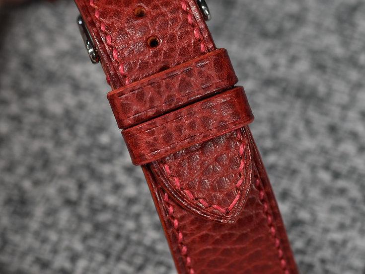 Walpier Dollaro(Red) Leather Watch Strap