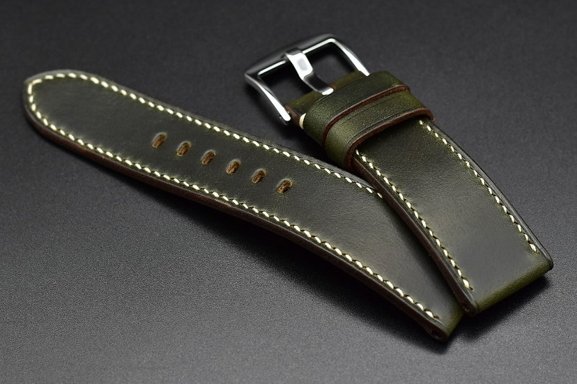 Horween Chromexcel(Green) Leather Watch Strap