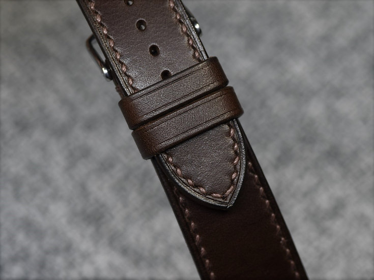 BC Minerva(Dark Brown) Leather Watch Strap