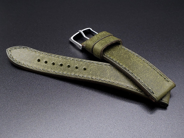 BC Pueblo(Olive Green) Leather Watch Strap