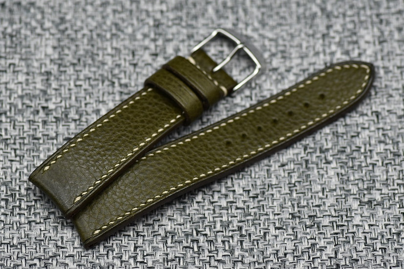 BC Minerva Box(Olive) Leather Watch Strap