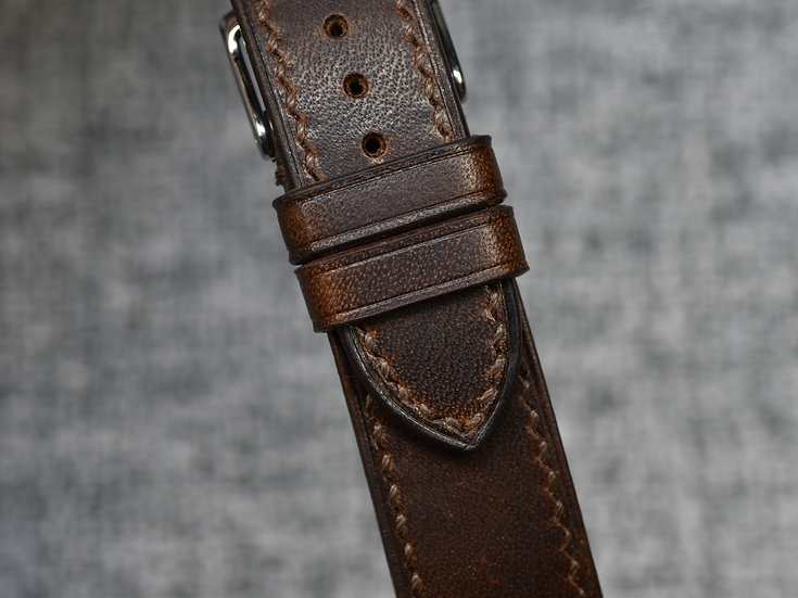Horween Dublin(Brown Nut) Leather Watch Strap