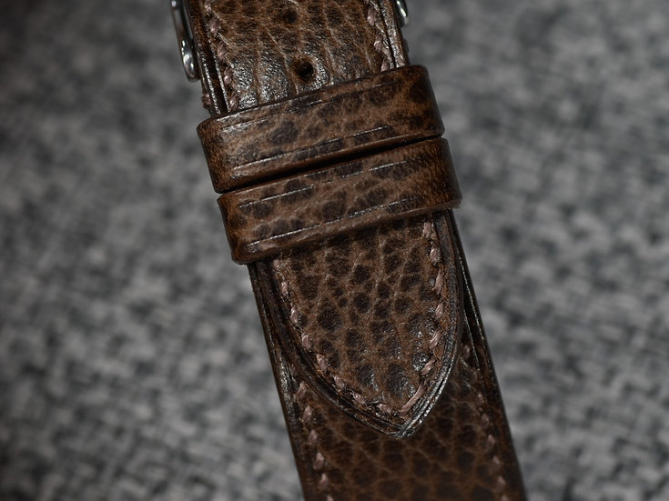 Walpier Dollaro(Dark Brown) Leather Watch Strap