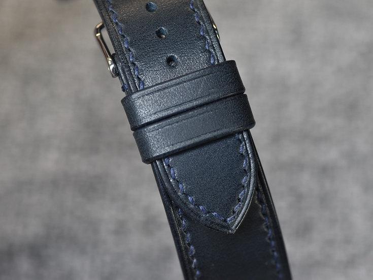 BC Minerva(Navy Blue) Leather Watch Strap