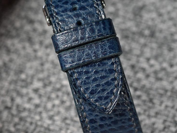 Walpier Dollaro(Blue) Leather Watch Strap