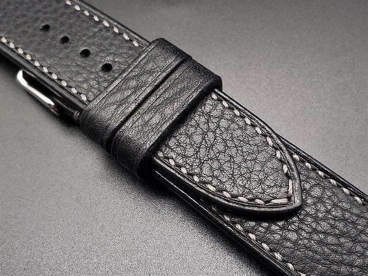 BC Minerva Box(Black) Leather Watch Strap