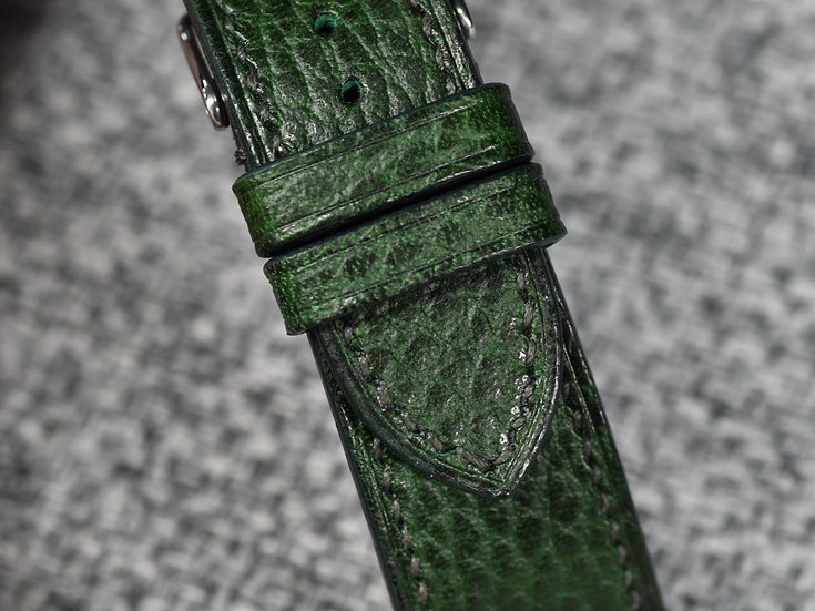 Walpier Dollaro(Green) Leather Watch Strap