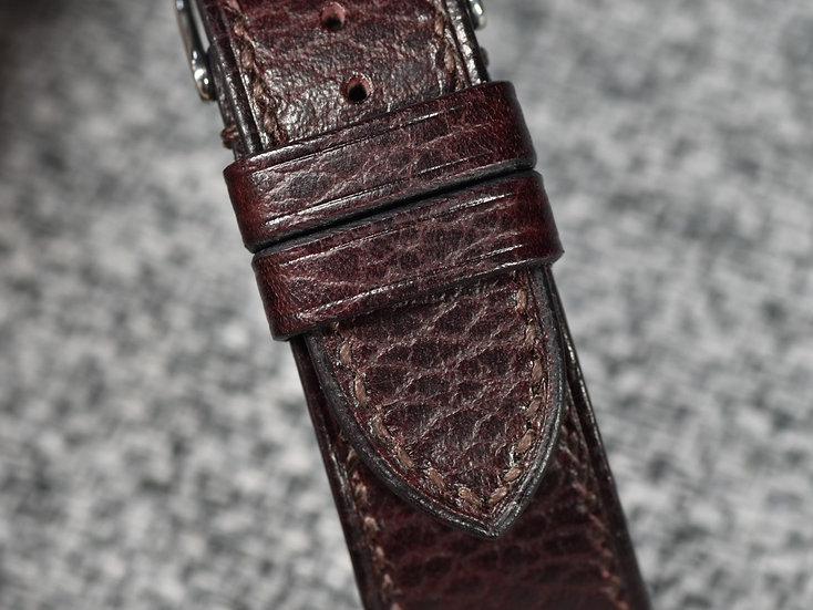 Walpier Dollaro(Bordeaux) Leather Watch Strap