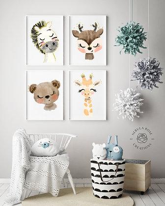 Nursery Print Animal Collection