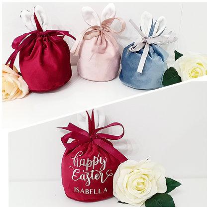 Easter Bunny Velvet Gift Bag