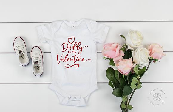 Daddy Is My Valentine Baby Vest
