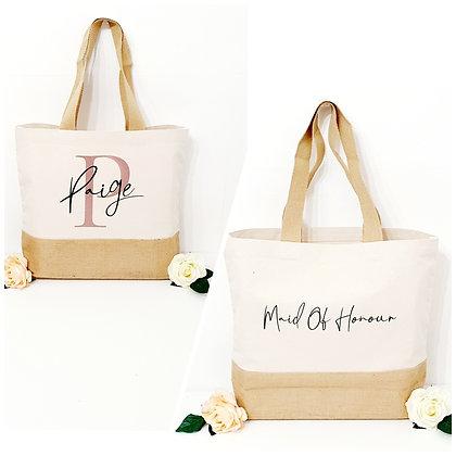 Personalised Jute Based Tote Bag