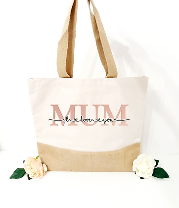 Mothers Day - Personalised Jute Based Tote Bag