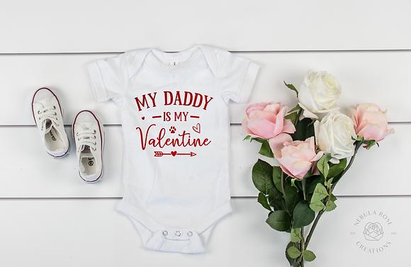 My Daddy Is My Valentine Baby Vest