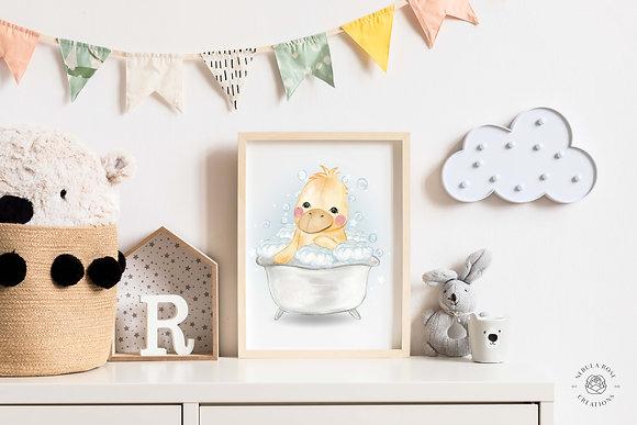 Baby Duck Nursery Print
