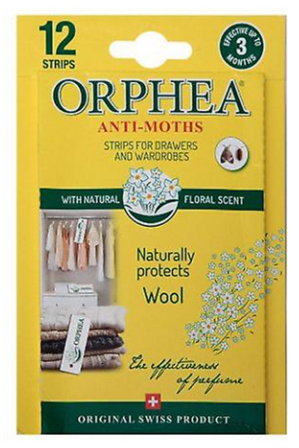 12 Floral Scent Anti Moth Strips for Drawers/Wardrobes