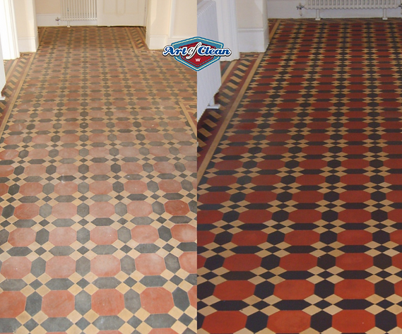 victorian tile cleaning in Cambridge Art
