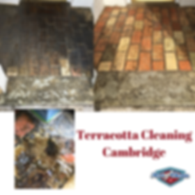 terracotta cleaning in Cambridge with Ar