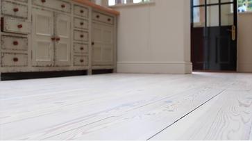 white floor finish