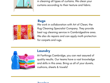 Our Services - Dry Cleaners Cambridge