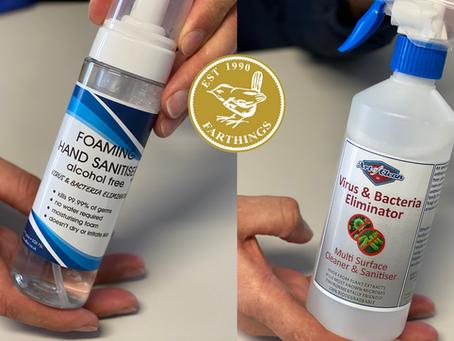Foaming Hand Sanitiser / Multi-Surface Cleaner and Sanitiser