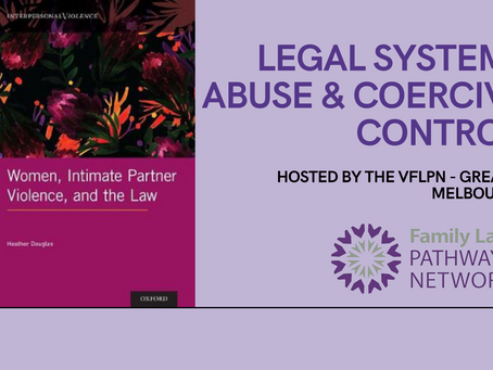 Event Report: Legal Systems Abuse and Coercive Control Webinar