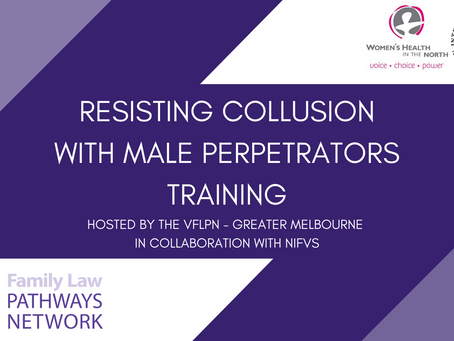 Event Report: Resisting Collusion with Male Perpetrators (online training)
