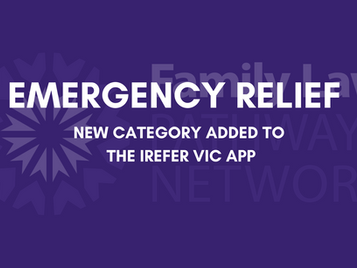 Emergency Relief - New Category Added to the iRefer VIC App