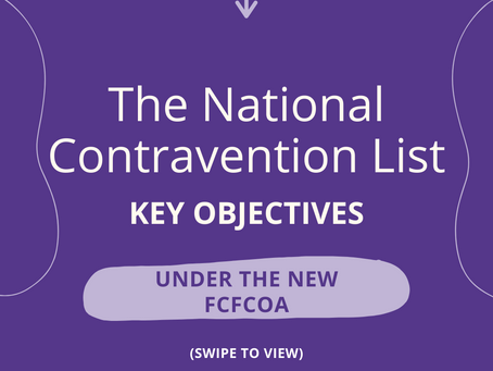 The FCFCOA: National Contravention List