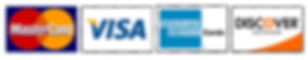 visa, mastercard, amex, discover, credit cards accepted