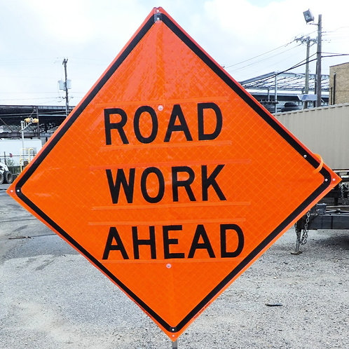 """48"""" Roll Up Construction Sign (Vinyl or Mesh)"""