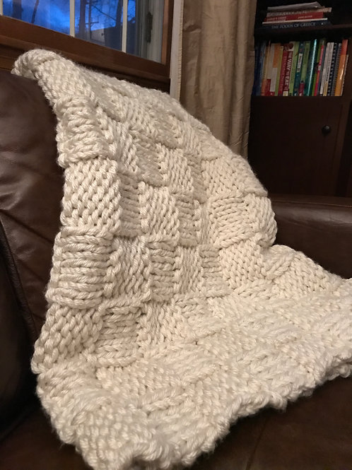 Beautiful hand-knitted blanket