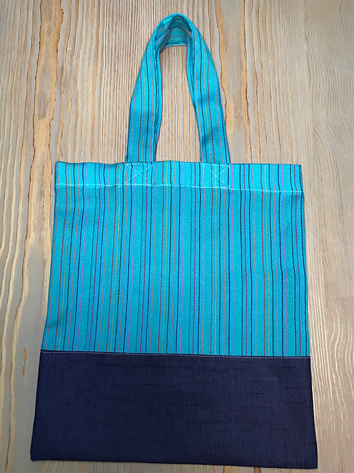 "Dimensions 13"" X 14"". Sturdy cotton tote."