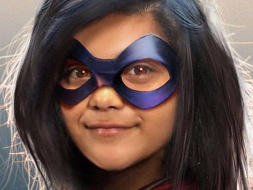 Set Photos of Iman Vellani in Captain Marvel Costume