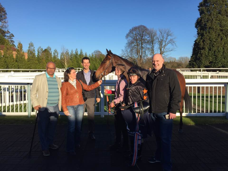 Snoozy Sioux Syndicate Members enjoy their win