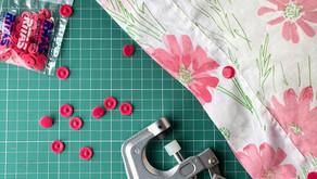 Botão de Pressão em capas de almofadas e fronha